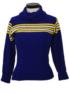 1980's Womens/Girls Cheerleader Sweater