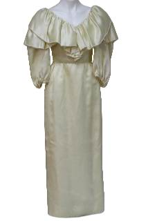 1970's Womens Wedding Maxi Dress