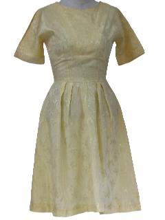 1950's Womens Jackie-O Style Cocktail Dress