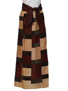 1980's Womens Hippie Patchwork Skirt