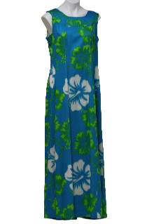 1960's Womens Hawaiian MuuMuu Maxi Dress