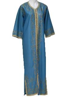 1980's Womens Caftan Over Dress