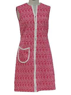 1970's Womens Mod Knit Dress