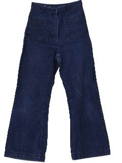 1970's Mens Denim Bellbottoms Jeans Pants