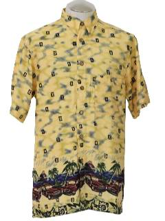 1980's Mens Totally 80s Hawaiian Style Shirt