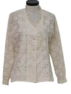 1970's Womens Lace Shirt Jacket