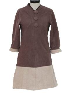 1960's Womens Mod Woool Dress