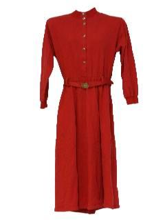 1980's Womens Midi Dress
