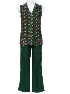 1960's Womens Vest & Pant Suit