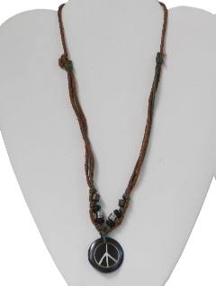 1970's Unisex Accessories - Jewelry/Peace Medallion Hippie Necklace