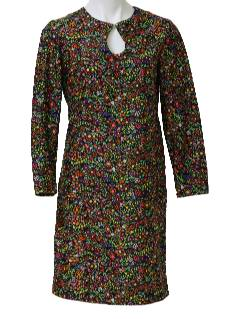 1970's Womens Mod Print Dress