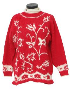 1980's Womens Kitschy Ugly Sweater