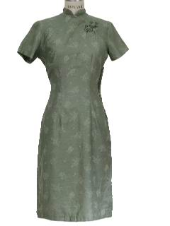 1950's Womens Cheongsam Dress