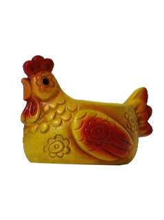 1960's Home Decor - Chicken  Candle