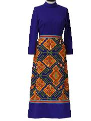 1970's Womens Mod Knit Maxi Dress