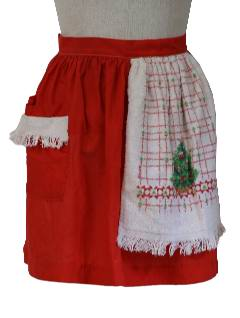 1970's Womens Christmas Apron