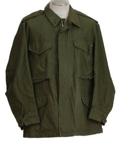 1950's Mens Military Army Coat Jacket