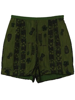 1960's Womens Mod Hawaiian Shorts