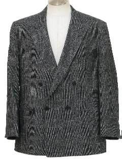 1980's Mens Totally 80s Double Breasted Sport Coat Blazer Jacket