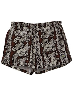 1980's Mens Totally 80s Hawaiian Style Shorts