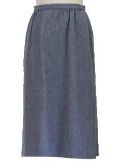 1970's Womens Wool Flat Front Skirt