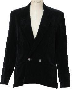 1980's Womens Totally 80s Velvet Blazer Jacket