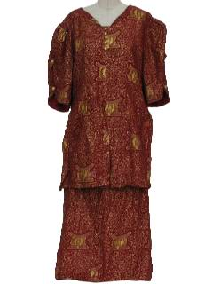 1990's Womens Ethnic African Style  Suit