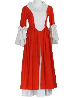 1970's Womens Unique Victorian Inspired Costume Dress