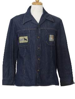 1970's Mens Denim Leisure Style Jacket