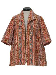 1970's Womens Mod Tapestry Jacket
