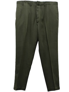 1970's Mens Mod Flat Front Slacks Pants