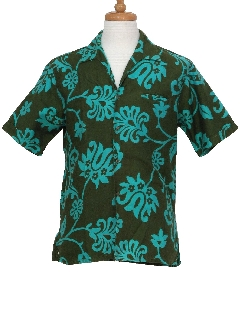 1960's Mens Mod Hawaiian Shirt