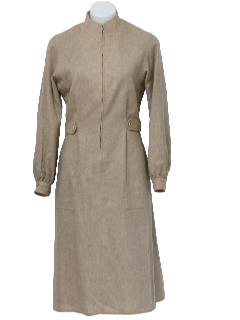 1970's Womens Wool Dress