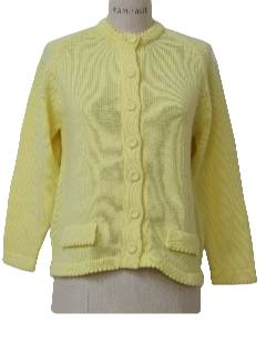 1960's Womens Mod Cardigan Sweater