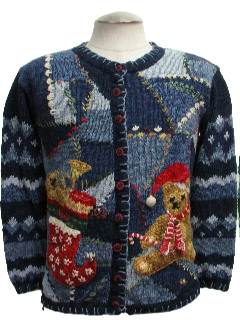1980's Womens Butt-Ugly Bear-riffic Ugly Christmas Sweater