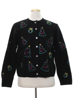 1980's Womens Sequined Ugly Christmas Sweater