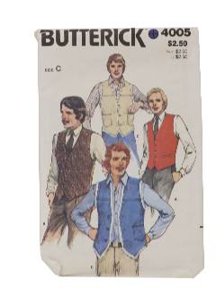 1980's Mens Sewing Pattern