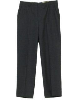 1970's Mens Mod Flat Front Pinstriped Slacks Pants