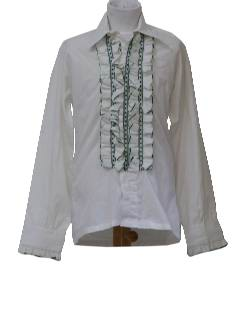 1970's Mens/Childs Ruffled Tuxedo Shirt