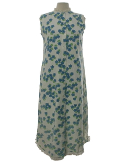 1960's Womens Hawaiian Maxi Dress