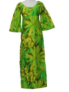 1970's Womens Mod Hawaiian Dress