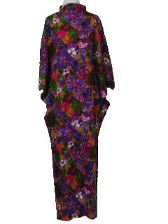 1960's Womens Maxi Mod Hawaiian Dress