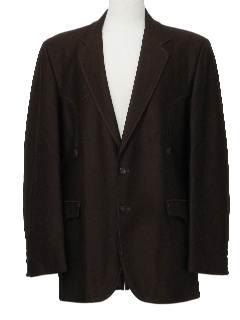 1970's Mens Mod Western Blazer Sport Coat Jacket