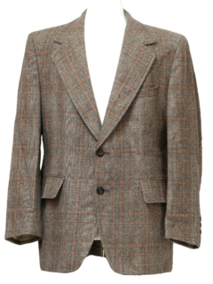 1970's Mens Wool Blazer Sport Coat Jacket