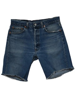 1990's Mens Grunge Cut-off Distressed Levis Jeans Shorts