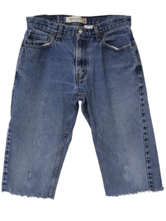 1990's Mens Wicked 90s Cut-Off Distressed Jeans Shorts