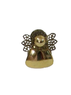 1980's Womens Accessories - Christmas Angel Brooch