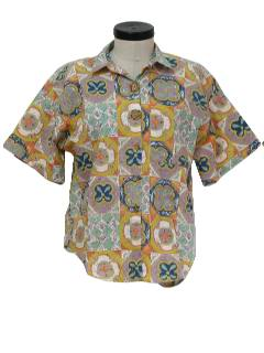 1980's Womens Totally 80s Print Shirt