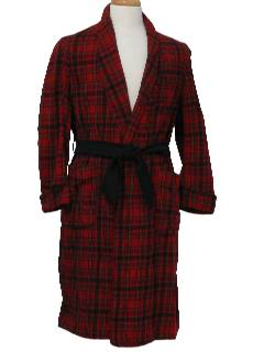 1960's Mens Wool Pendleton Robe
