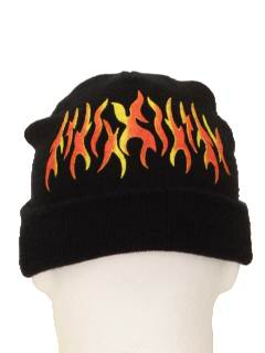 1990's Unisex Accessories - Wicked 90s Knit Ski Hat